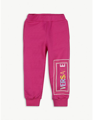 Versace Logo print cotton jogging bottoms 4-14 years