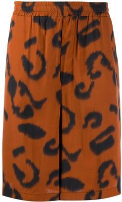 Stella McCartney Leopard Bermuda Shorts