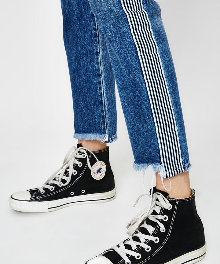 Neuw Lexi Slim Straight Stripe Jeans Blue