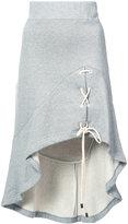 Jonathan Simkhai tie front asymmetric skirt