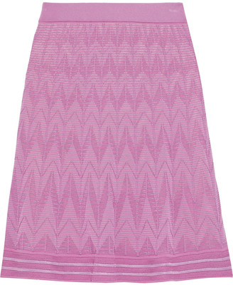 M Missoni Crochet-knit Cotton-blend Skirt