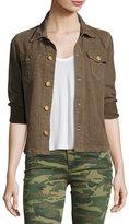 True Religion Nora 3/4-Sleeve Shirt Jacket, Tan