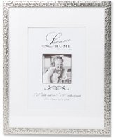 Lawrence Frames Shimmer Metal, Holds 5 by 7-Inch Picture Frame with Mat and 8 by 10-Inch without Mat, Silver