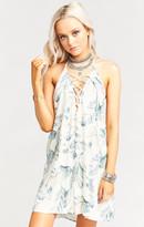 MUMU Lo Lace up Mini Dress ~ Don't Leaf Me Breeze