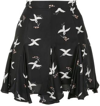 macgraw Symphony Bird Print Rara skirt