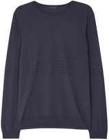 Pal Zileri Dark Grey Ribbed Wool Jumper
