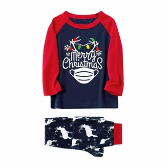 Jiegorge Family Matching Outfits Child Family Matching Xmas Pajamas Set Women Kid Adult PJs Sleepwear Nightwear