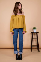 Otis & Maclain Georgia Top | Mustard Stripe