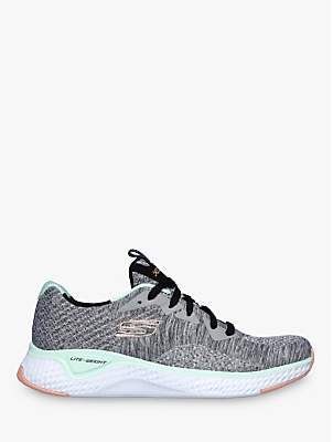 Skechers Solar Lace Up Trainers, Grey