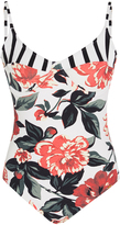 Salinas Floral and Stripe Swimsuit