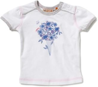 Noppies Girls' White 95% Cotton 5% EA T-Shirt Size 104cm (4-5 Years)