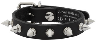 Junya Watanabe Black Leather Stud Bracelet