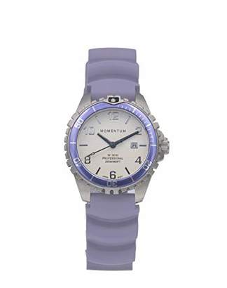 Momentum Women's Quartz Watch | M1 Mini by | Stainless Steel Watches for Women | Dive Watch with Japanese Movement & Analog Display | Water Resistant Ladies Watch with Date - White/ Rubber