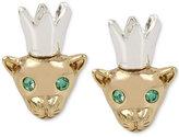 Betsey Johnson Two-Tone Mouse King Stud Earrings