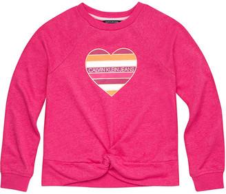 Calvin Klein Tie-Front Sweatshirt