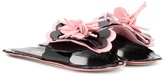 Miu Miu Patent Leather Slip-on Sandals