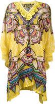 Roberto Cavalli ruffled neck tunic - women - Silk/Polyamide/Viscose - 40