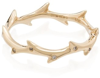 Dru 14kt gold Thorn Crown ring