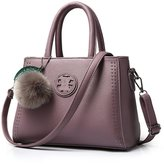 Allway store Europe & America Leather Shoulder Handbag Clutch Tote Bag with Zipper Pouch