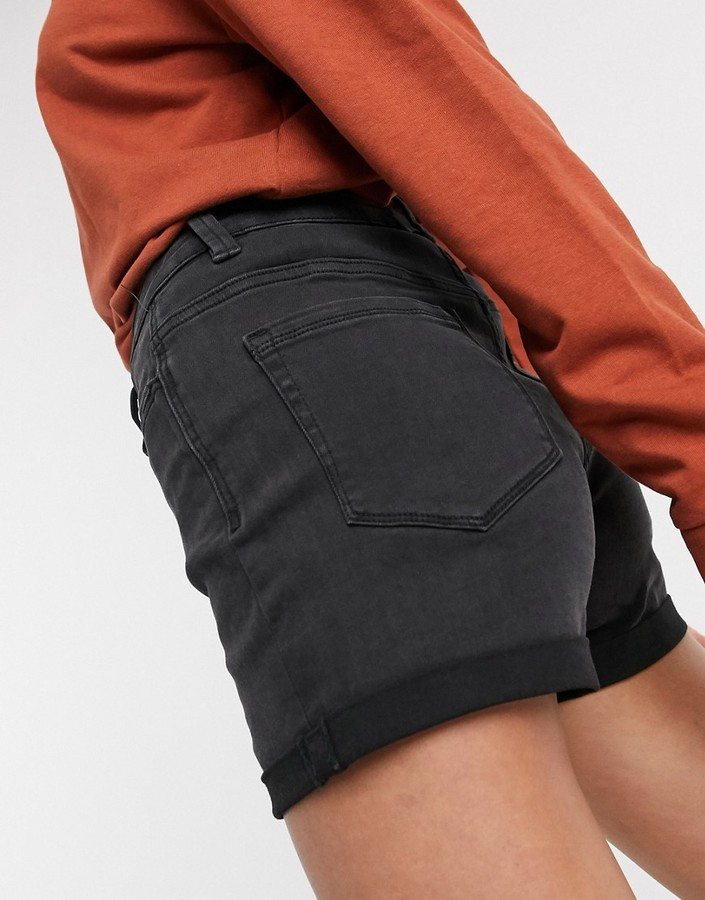 Thumbnail for your product : Pimkie turnup shorts in black