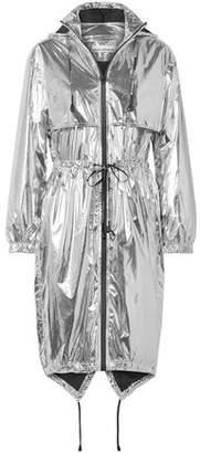 Paco Rabanne Metallic Shell Hooded Jacket