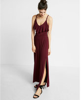Express Ruffle Front Maxi Dress