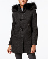 Nautica Faux-Fur-Trim Toggle-Front Coat