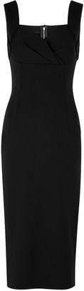 Dolce & Gabbana Black stretch-jersey midi dress