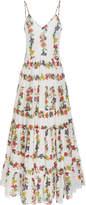 Carolina K. Marieta Tiered Floral Cotton-Blend Maxi Dress