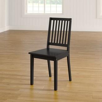 Andover Mills Raine Slat Back Side Chair Color: Black