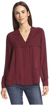 Gat Rimon Women's V-Neck Top with Pleating