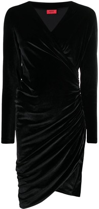 HUGO BOSS Ruched Mini Dress