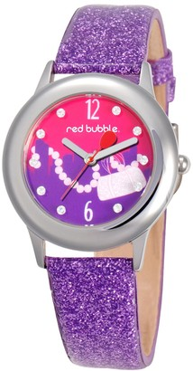 Red Bubble Red-Bubble W002103 Girls'Watch Analogue Quartz White Dial Other Way Strap Purple