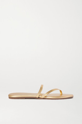 TKEES Sarit Metallic Leather Sandals - Gold