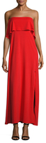 Susana Monaco Bandeau Side Split Maxi Dress