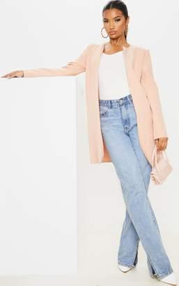 PrettyLittleThing Stone Collarless Longline Jacket