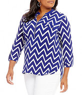 Peter Nygard Plus Printed Utility Shirt