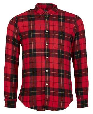 Portuguese Flannel Lumberjack Check Flannel Shirt Colour: RED BLACK, S