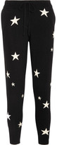 Chinti and Parker Star-intarsia Cashmere Track Pants - Black
