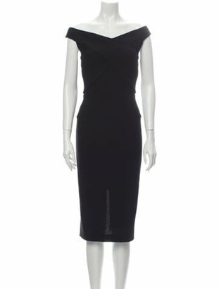 Roland Mouret Wool Midi Length Dress w/ Tags Wool