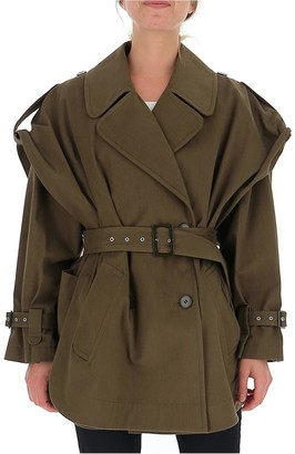 Alberta Ferretti Short Trench Coat