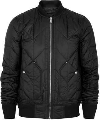 Rick Owens Black quilted shell bomber jacket