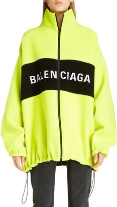 Balenciaga Logo Wool Blend Jacket