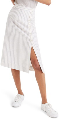Madewell Side-Button Midi Skirt