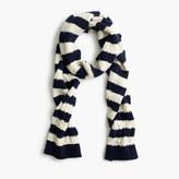 J.Crew Striped pom-pom scarf