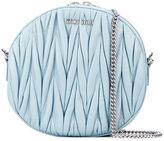 Miu Miu embossed round crossbody bag
