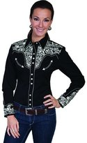 Scully Western Shirt Womens Long Sleeve Snap Floral Xs PL-654