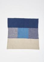 Fog Linen blue linen patchwork napkin