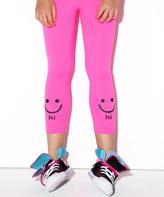 LittleMissMatched Neon Pink 'Hi Bye' Leggings