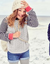 Boden Stripe Cable Sweater